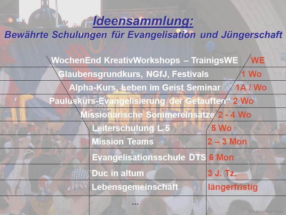Ideensammlung: Bewährte Schulungen für Evangelisation und Jüngerschaft