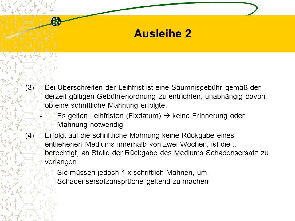 Ausleihe 2