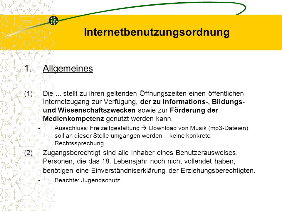 Internetbenutzungsordnung