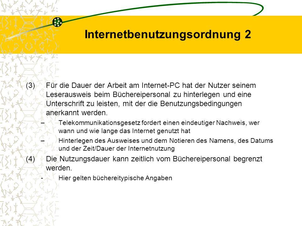 Internetbenutzungsordnung 2