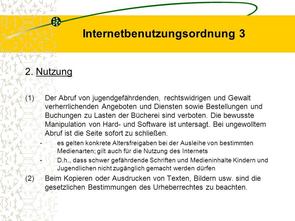 Internetbenutzungsordnung 3
