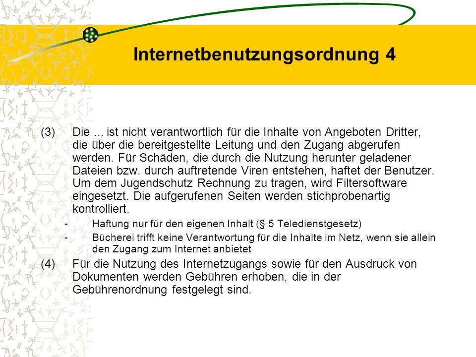 Internetbenutzungsordnung 4