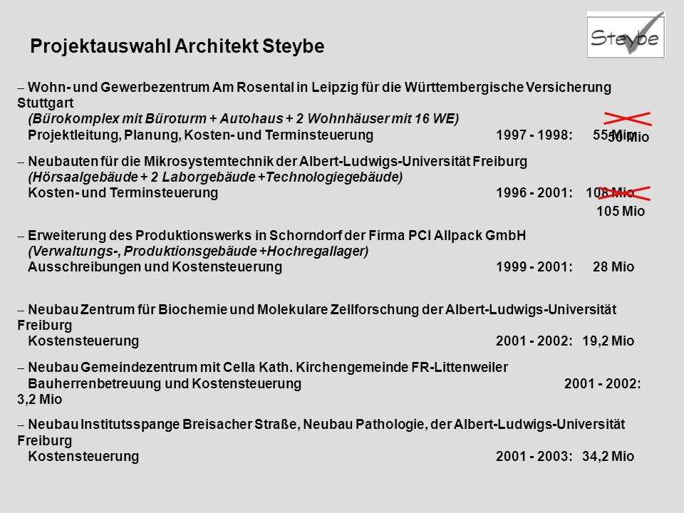 Projektauswahl Architekt Steybe