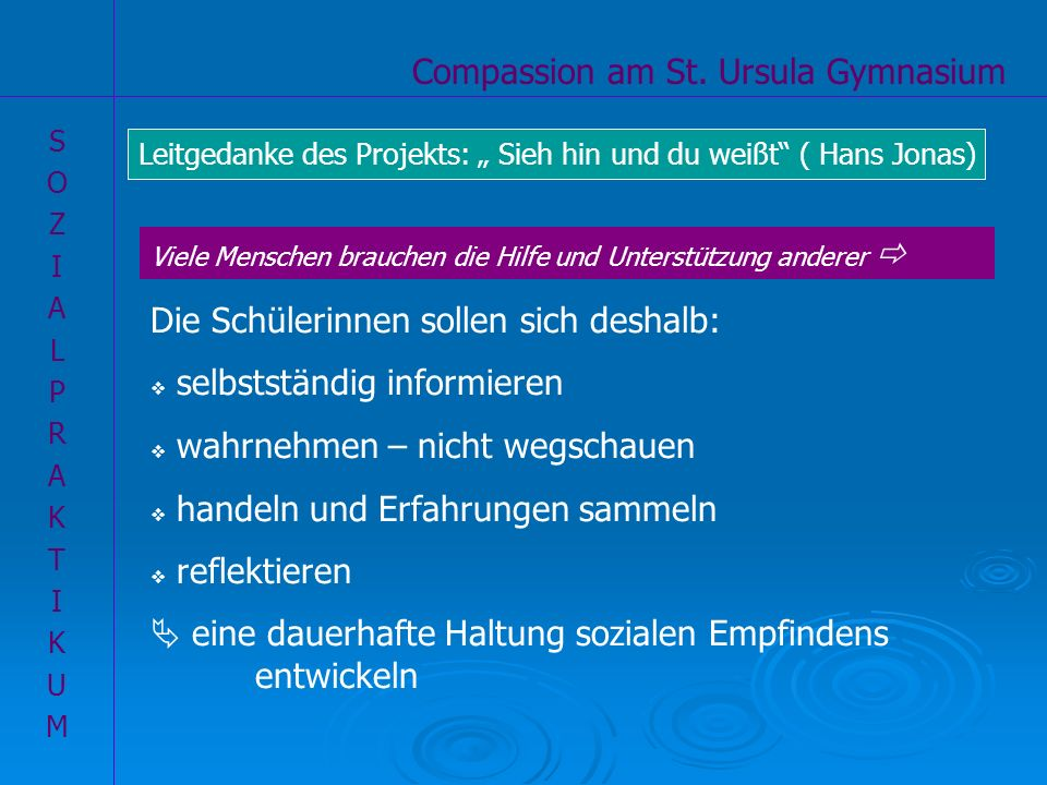 Ziele unseres Compassion-Projektes