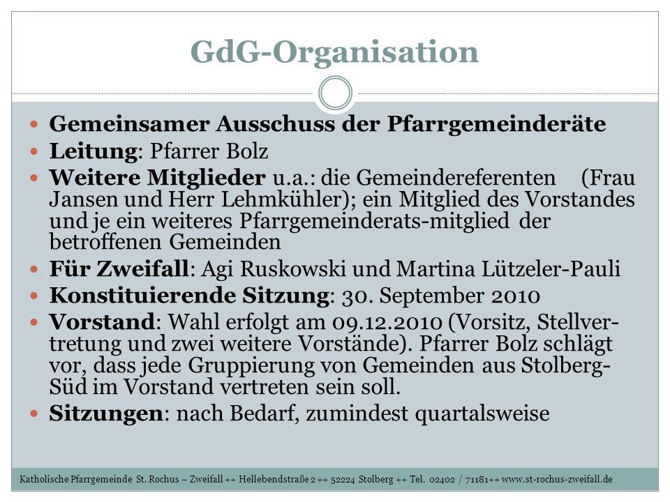 GdG-Organisation Gemeinsamer Ausschuss der Pfarrgemeinderäte