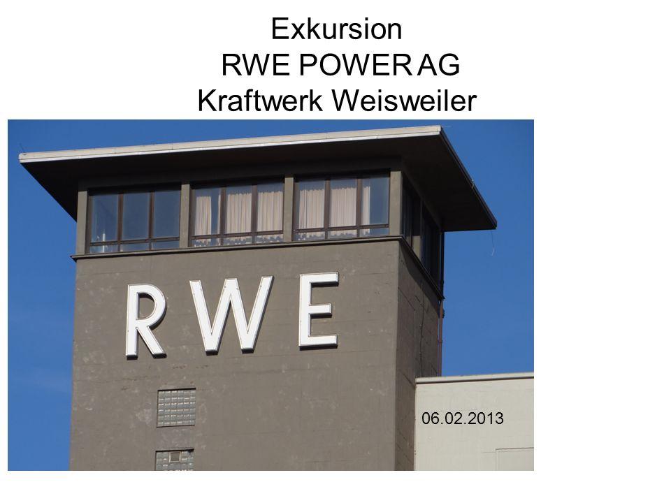 Exkursion RWE POWER AG Kraftwerk Weisweiler