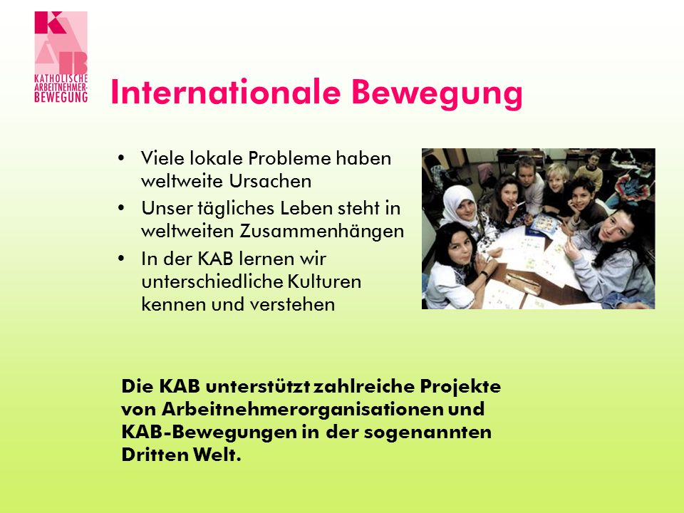 Internationale Bewegung