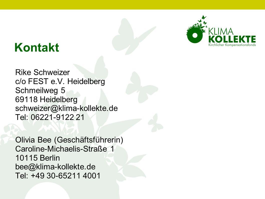 Kontakt Rike Schweizer c/o FEST e.V. Heidelberg Schmeilweg 5