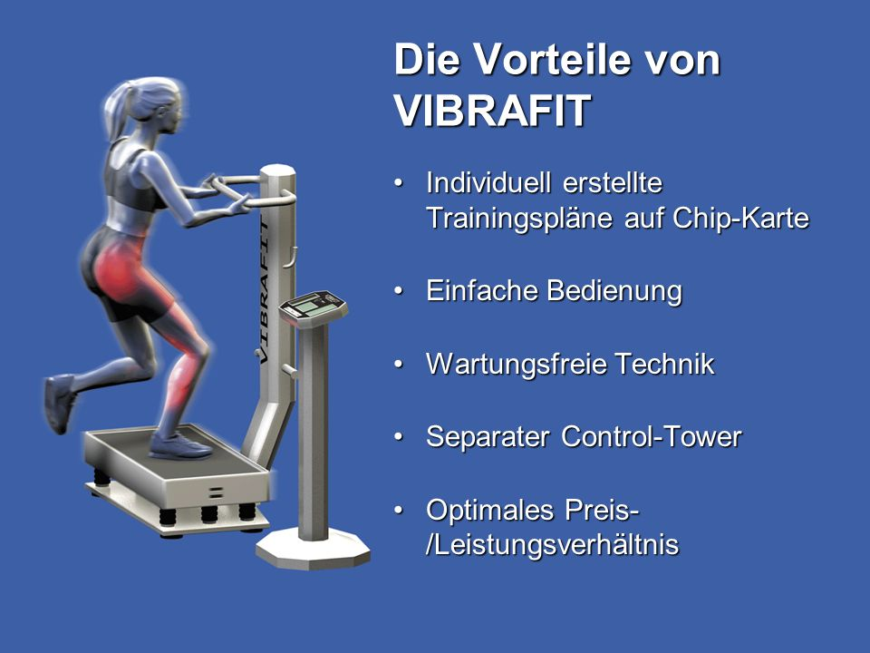 Die Vorteile von VIBRAFIT
