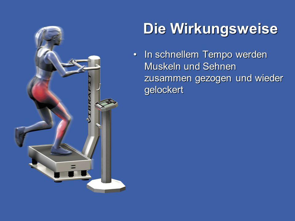 Die Wirkungsweise In schnellem Tempo werden Muskeln und Sehnen zusammen gezogen und wieder gelockert.