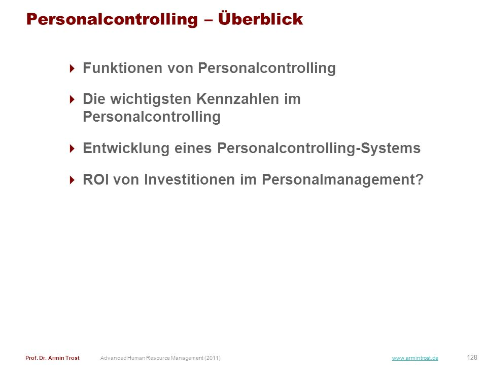 Personalcontrolling – Überblick