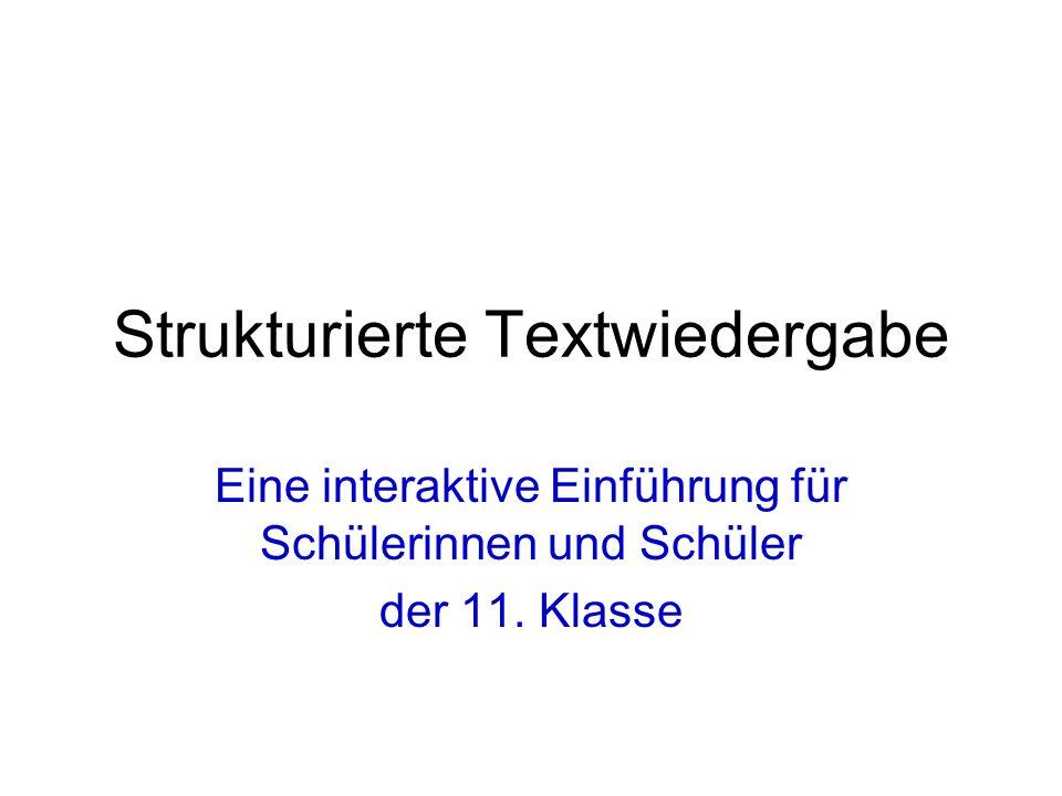 Strukturierte Textwiedergabe Ppt Video Online Herunterladen