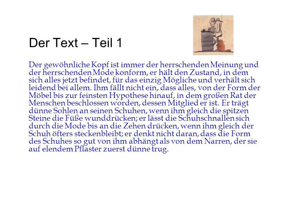 Der Text – Teil 1