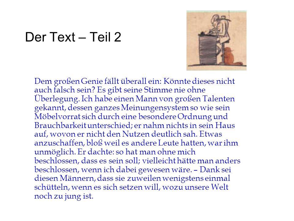 Der Text – Teil 2