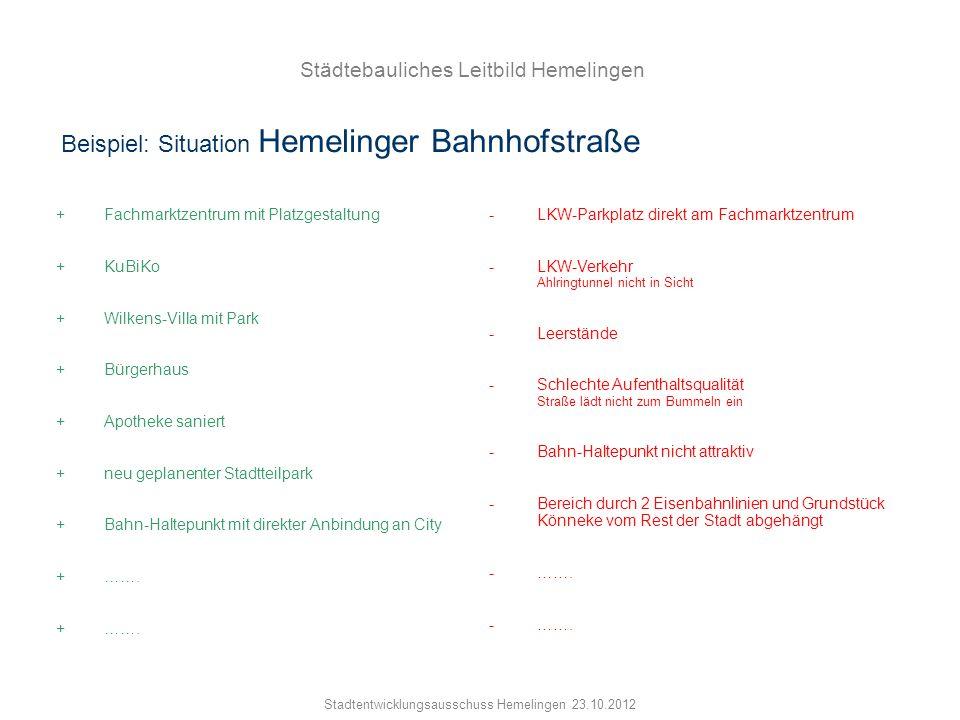 Beispiel: Situation Hemelinger Bahnhofstraße