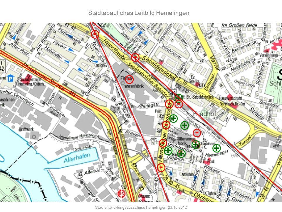 - - - + - - + - + - - + + + + - Städtebauliches Leitbild Hemelingen