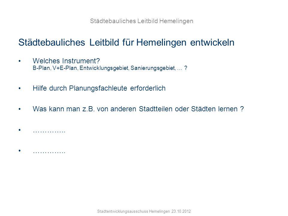 Städtebauliches Leitbild für Hemelingen entwickeln
