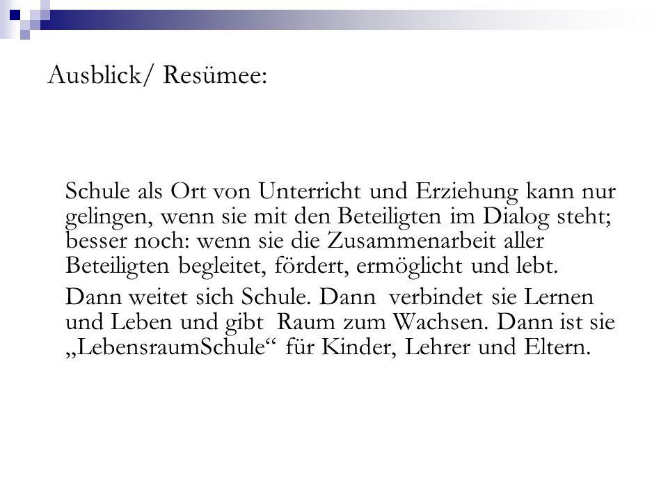Ausblick/ Resümee: