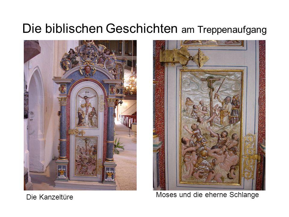 Die biblischen Geschichten am Treppenaufgang