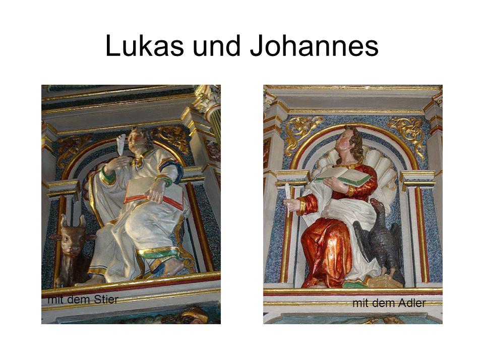 Lukas und Johannes mit dem Stier mit dem Adler
