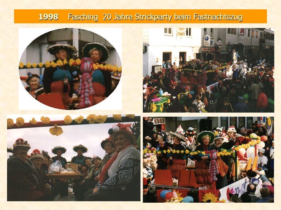 1998 Fasching 20 Jahre Strickparty beim Fastnachtszug