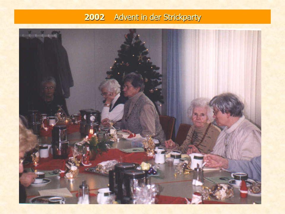 2002 Advent in der Strickparty