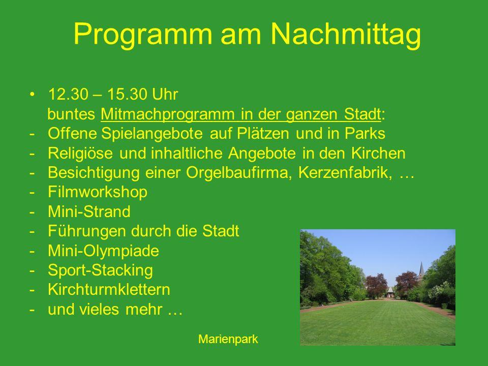 Programm am Nachmittag