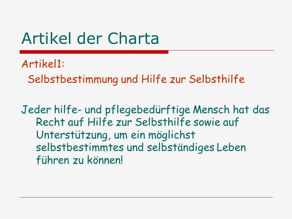 Artikel der Charta Artikel1: