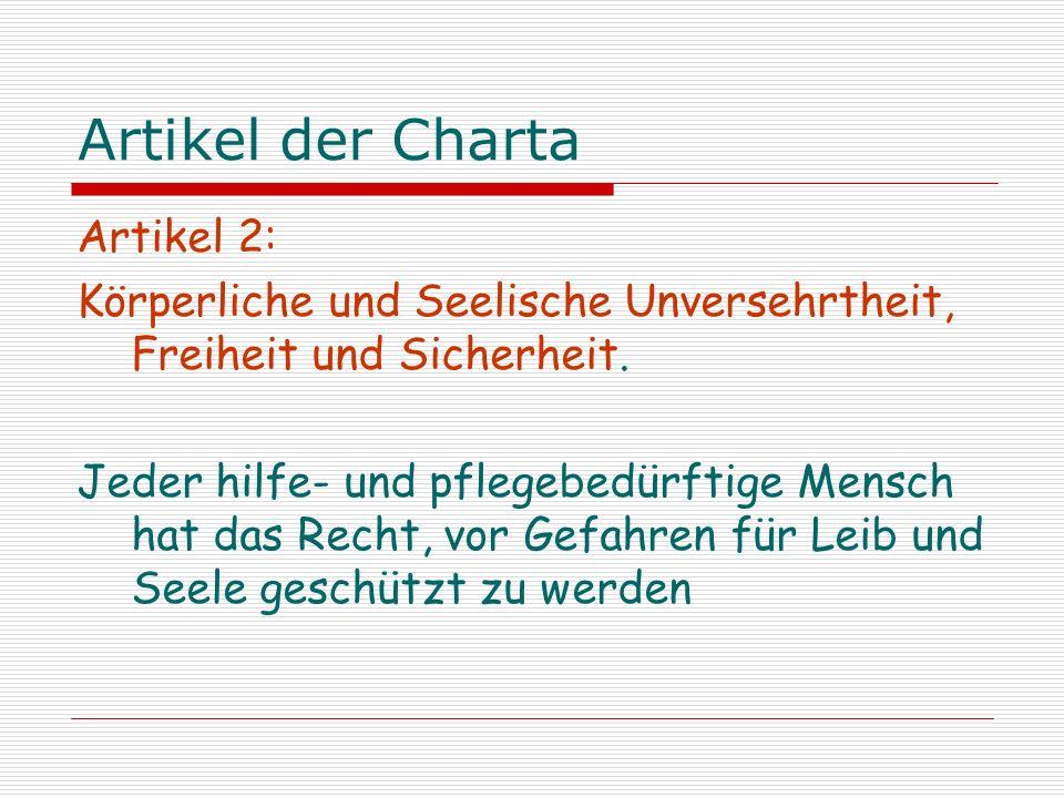 Artikel der Charta Artikel 2:
