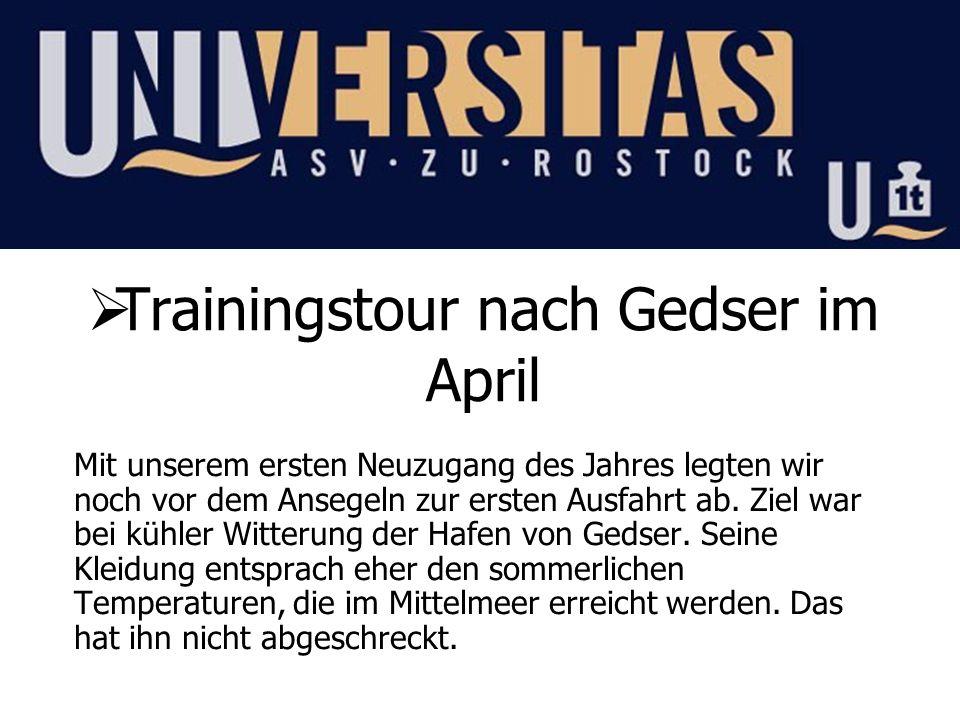Trainingstour nach Gedser im April