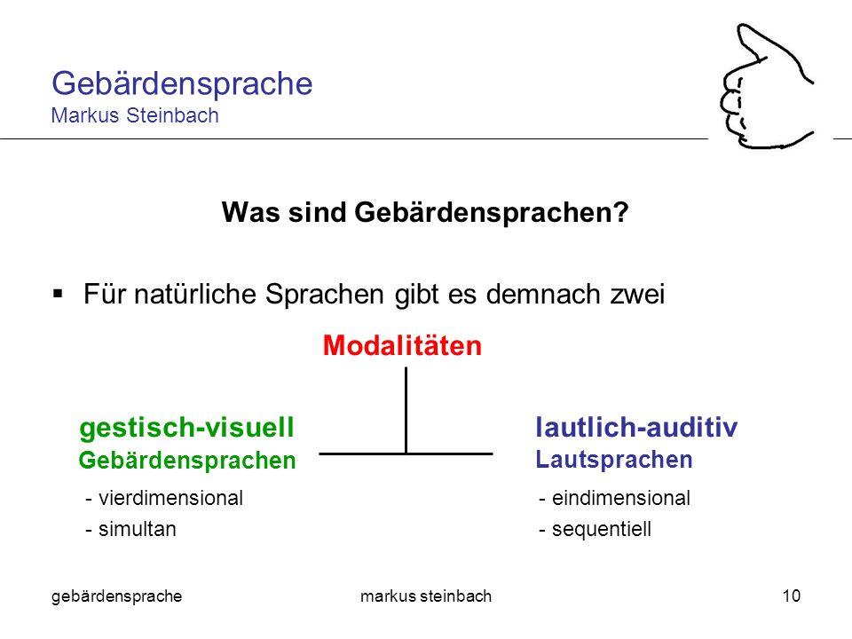 Was sind Gebärdensprachen