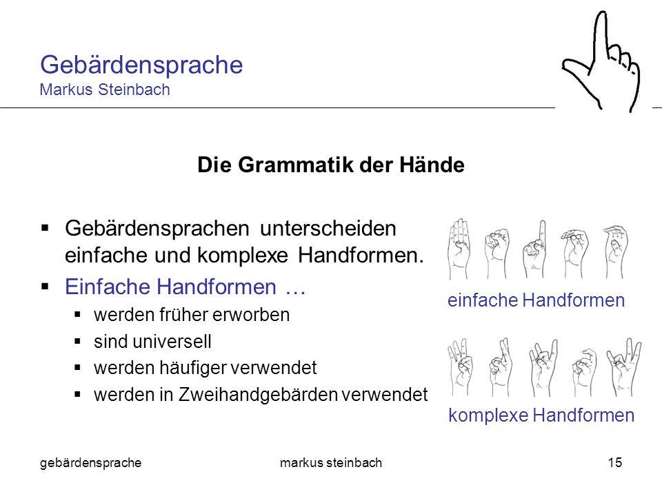 Die Grammatik der Hände