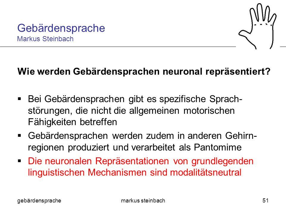 Wie werden Gebärdensprachen neuronal repräsentiert