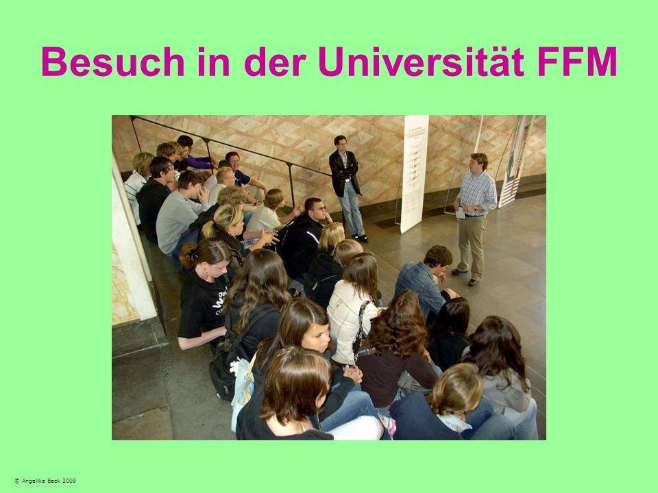 Besuch in der Universität FFM