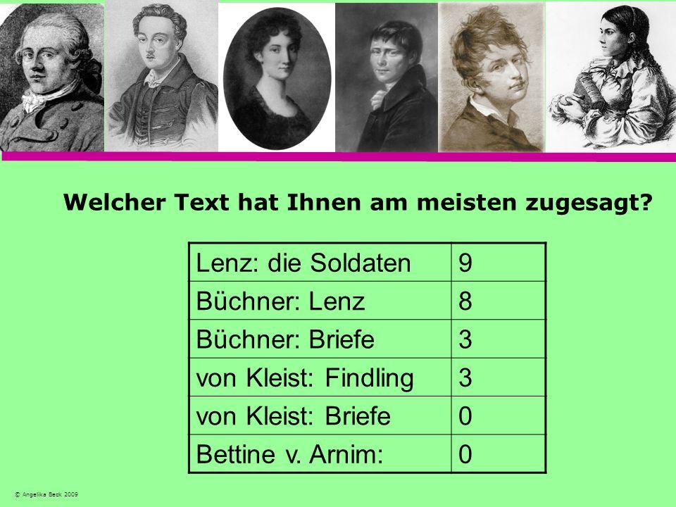 Lenz: die Soldaten 9 Büchner: Lenz 8 Büchner: Briefe 3