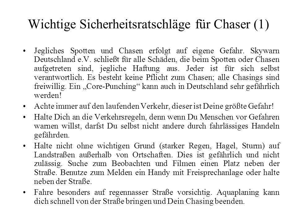Wichtige Sicherheitsratschläge für Chaser (1)