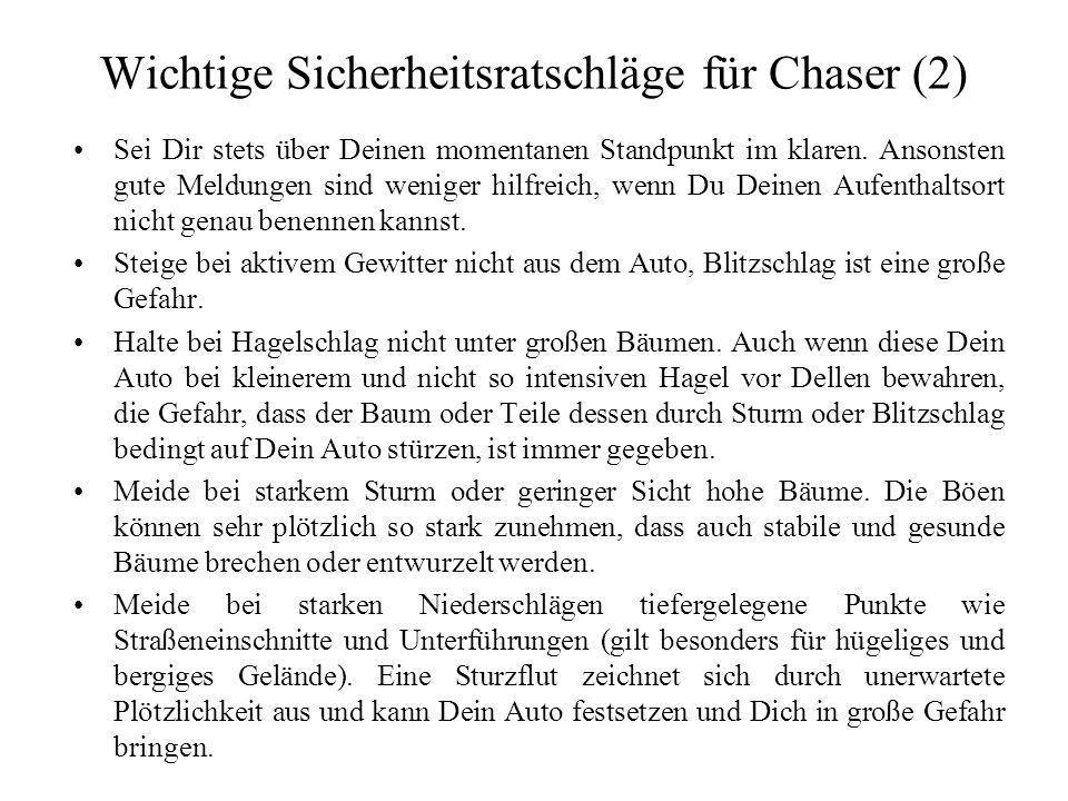 Wichtige Sicherheitsratschläge für Chaser (2)