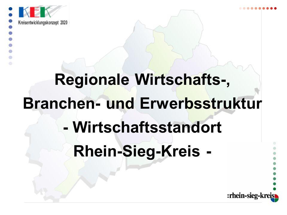 Regionale Wirtschafts-, Branchen- und Erwerbsstruktur - Wirtschaftsstandort Rhein-Sieg-Kreis -