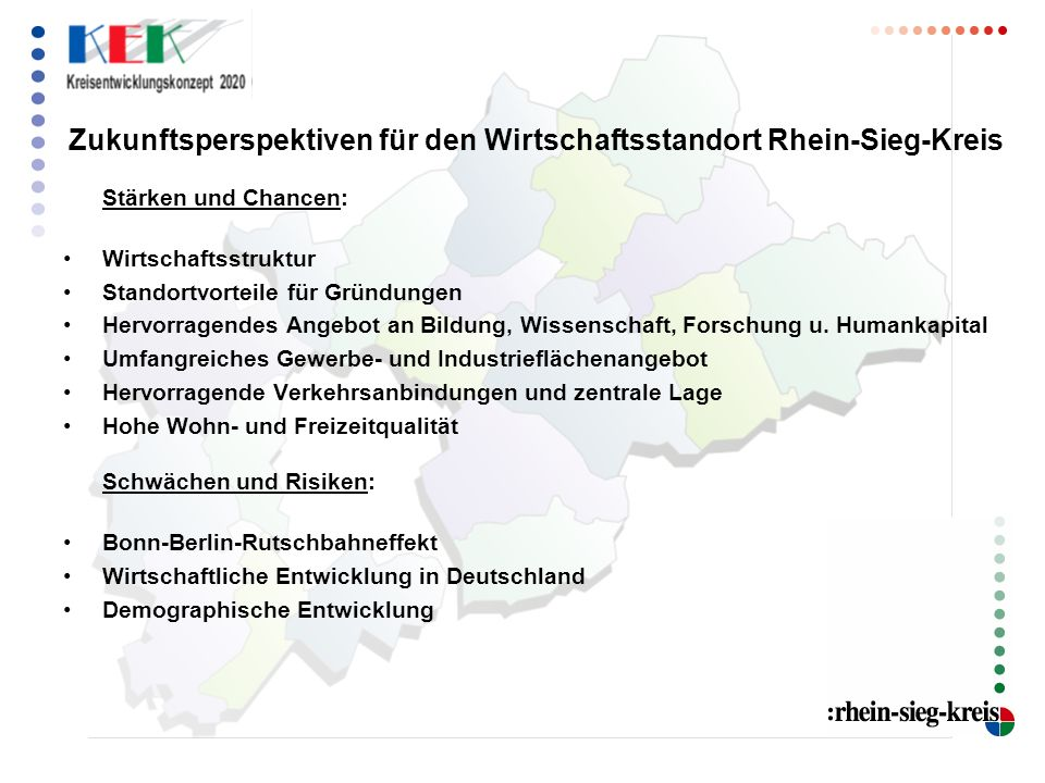 Zukunftsperspektiven für den Wirtschaftsstandort Rhein-Sieg-Kreis