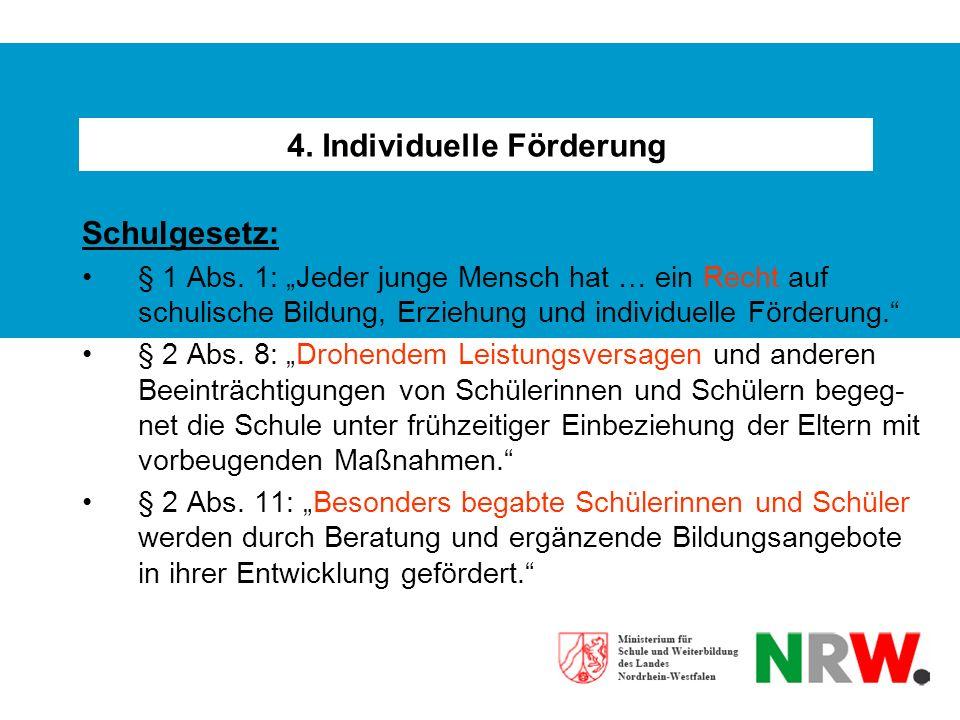 4. Individuelle Förderung