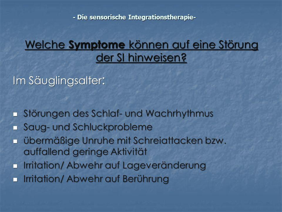 Welche Symptome können auf eine Störung der SI hinweisen