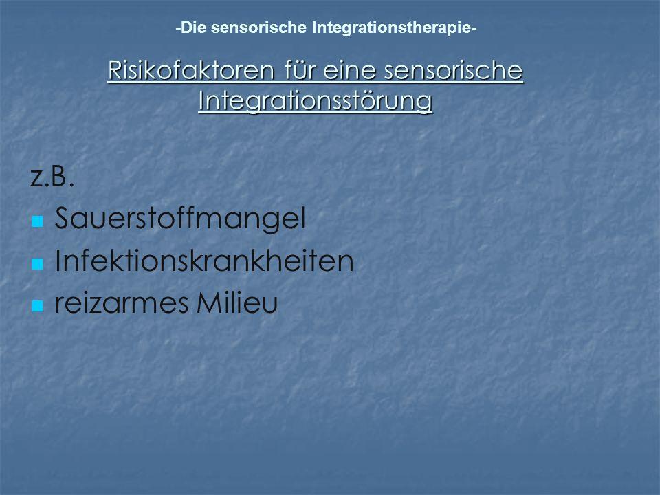 Risikofaktoren für eine sensorische Integrationsstörung