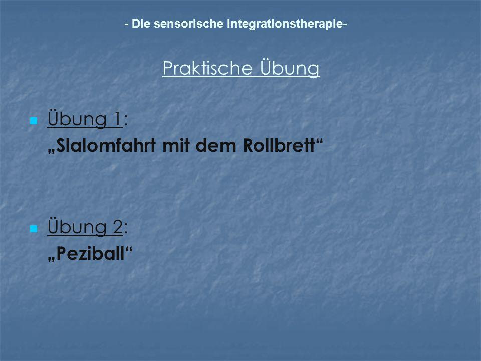 """Slalomfahrt mit dem Rollbrett"