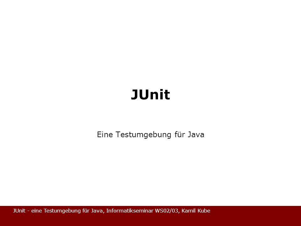 Eine Testumgebung für Java