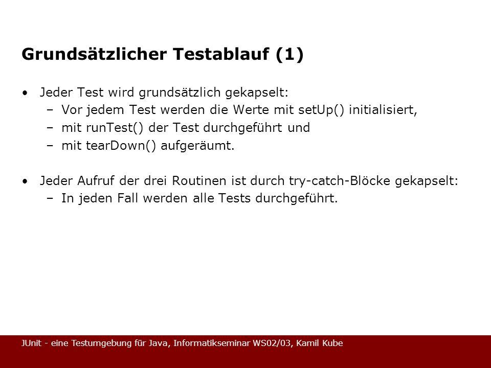 Grundsätzlicher Testablauf (1)