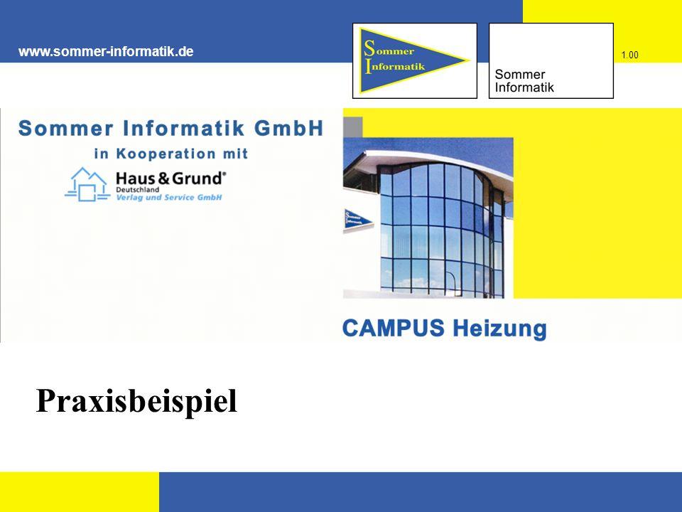 www.sommer-informatik.de 1.00 Praxisbeispiel