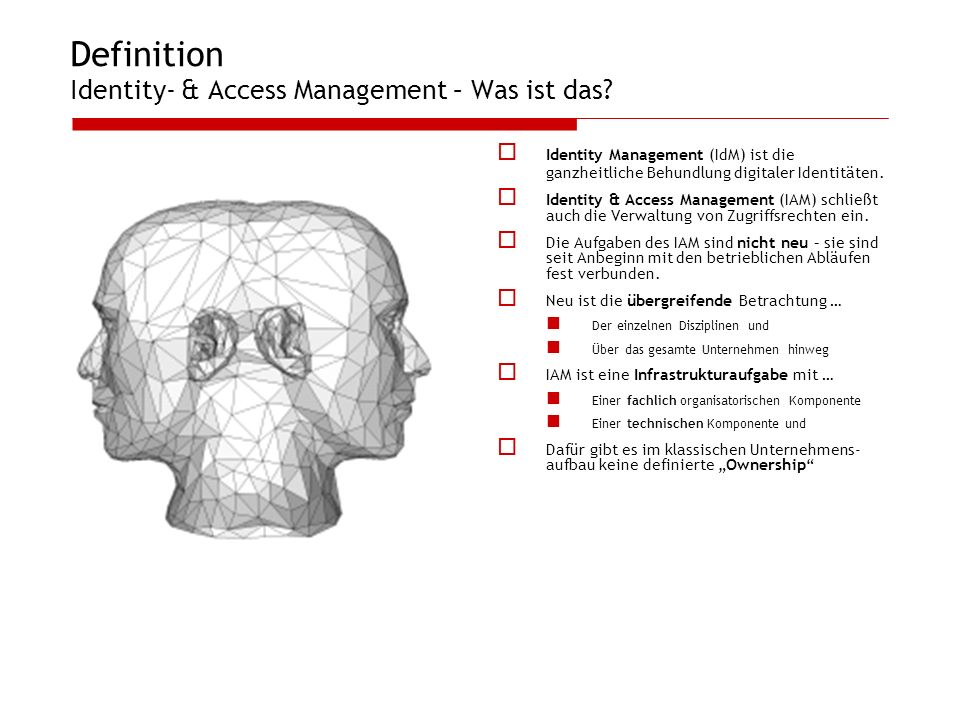 Definition Identity- & Access Management – Was ist das