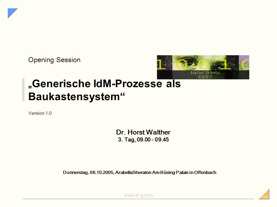 """""""Generische IdM-Prozesse als Baukastensystem"""