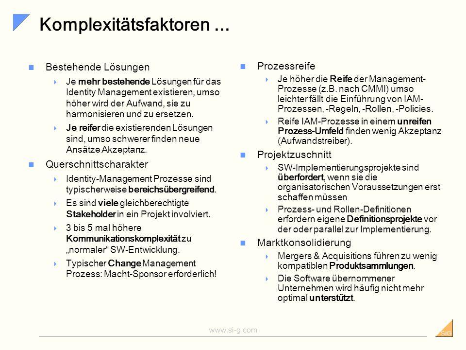 Komplexitätsfaktoren ...