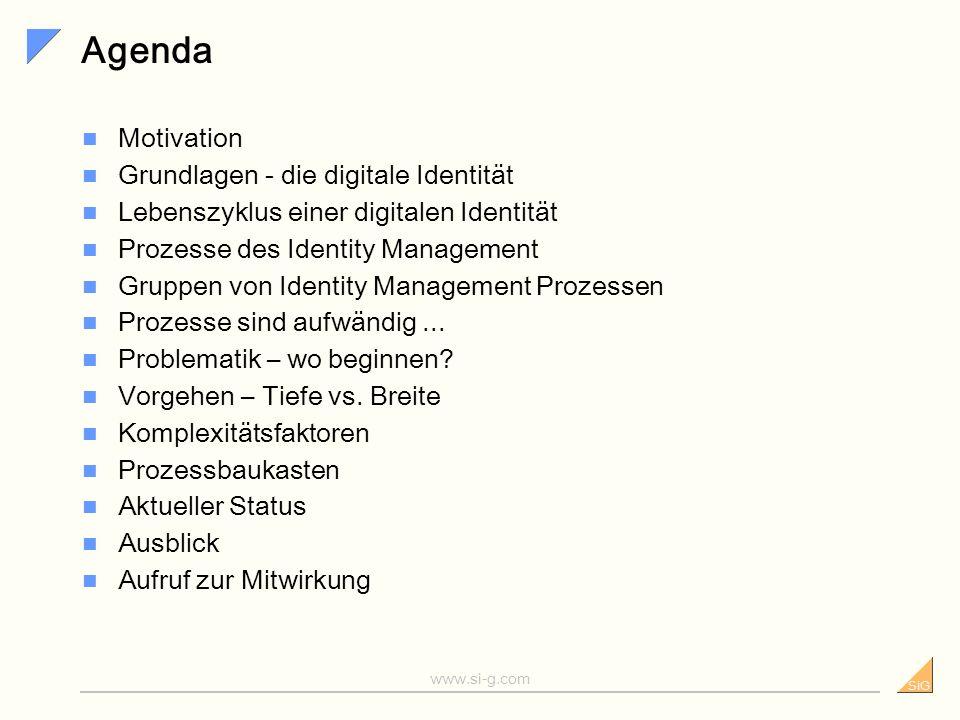 Agenda Motivation Grundlagen - die digitale Identität